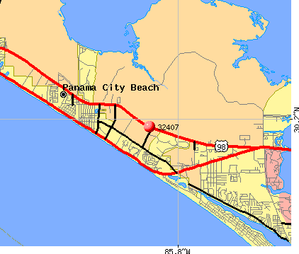 Panama City Beach Zip Code Map | Zip Code MAP