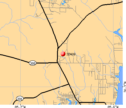 Lynn Haven, FL (32409) map