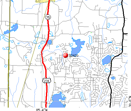 Alford, FL (32420) map