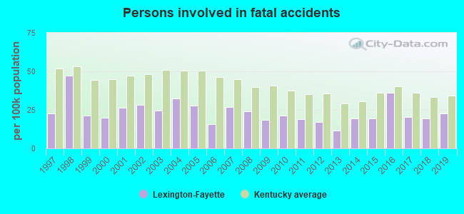 Fatal car crashes and road traffic accidents in Lexington
