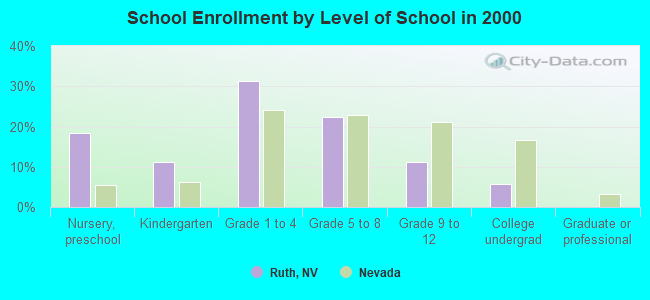 School Enrollment by Level of School in 2000