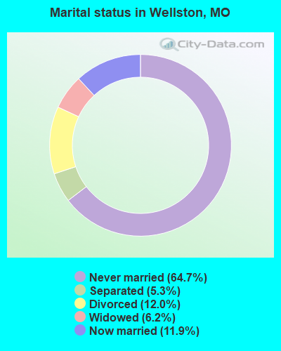 Marital status in Wellston, MO