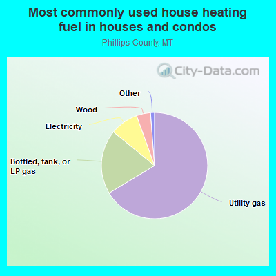Most commonly used house heating fuel in houses and condos