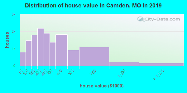 Camden County home values distribution