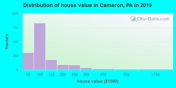 Cameron County home values distribution