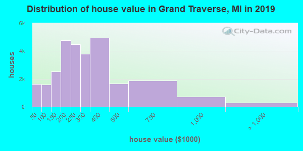 Grand Traverse County home values distribution