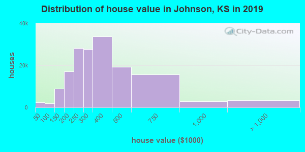 Johnson County home values distribution