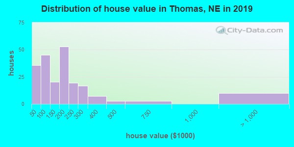 Thomas County home values distribution