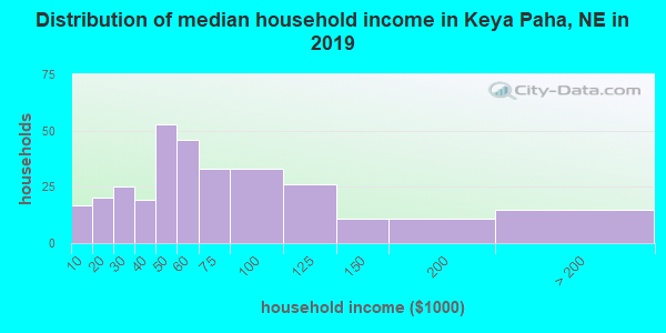 Keya Paha County household income distribution in 2009