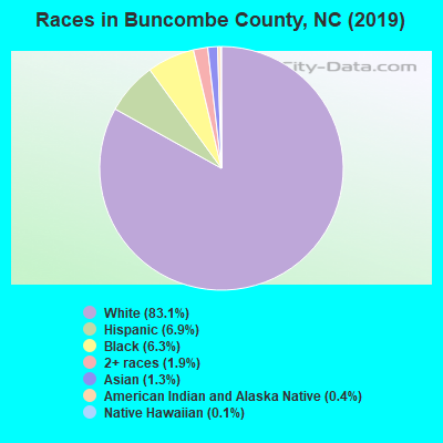 Buncombe County races chart