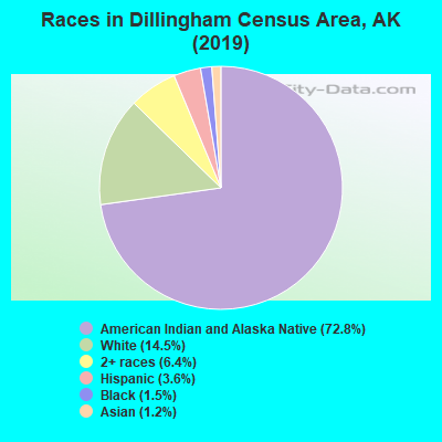 Races in Dillingham Census Area, AK (2017)