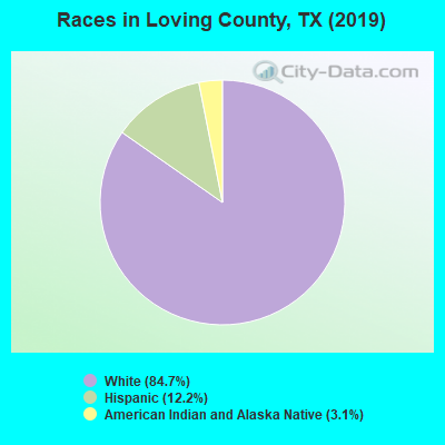 Races in Loving County, TX (2019)