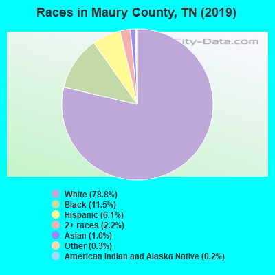 Maury County races chart