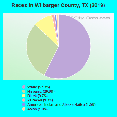 Wilbarger County races chart