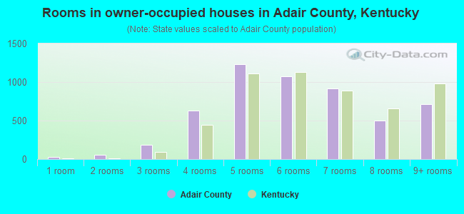 Rooms in owner-occupied houses in Adair County, Kentucky