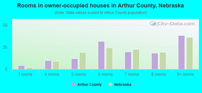 Rooms in owner-occupied houses in Arthur County, Nebraska