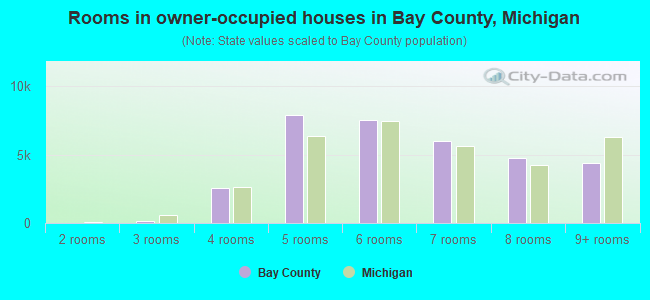 Rooms in owner-occupied houses in Bay County, Michigan