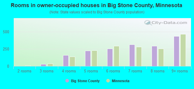 Rooms in owner-occupied houses in Big Stone County, Minnesota