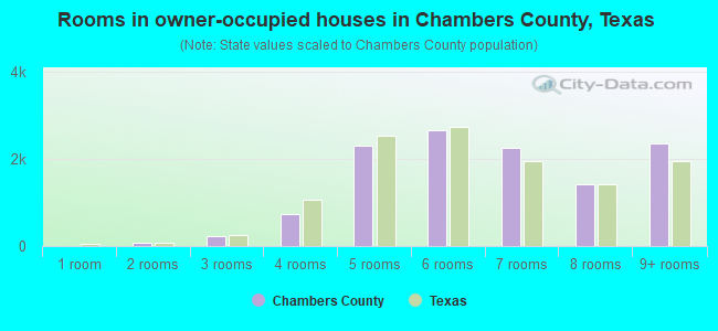 Rooms in owner-occupied houses in Chambers County, Texas