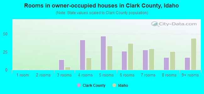 Rooms in owner-occupied houses in Clark County, Idaho