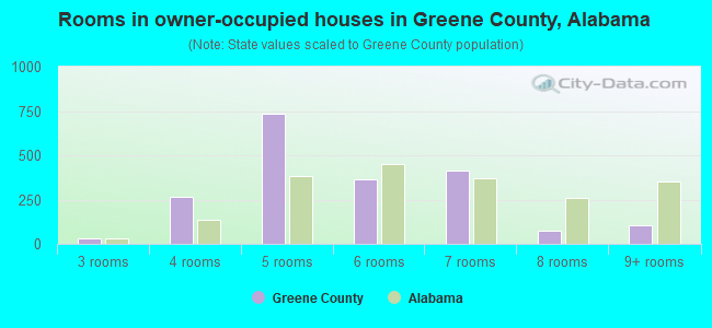 Rooms in owner-occupied houses in Greene County, Alabama