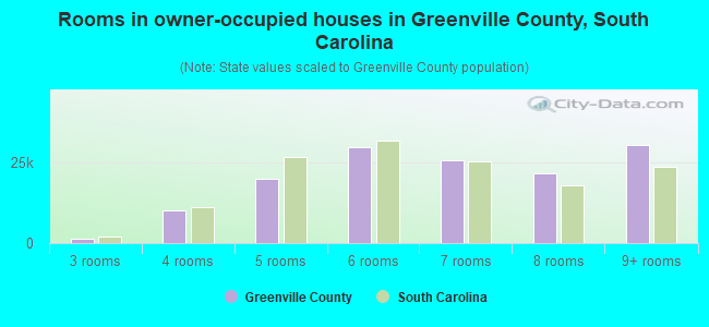 Rooms in owner-occupied houses in Greenville County, South Carolina