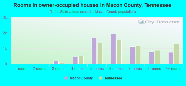 Rooms in owner-occupied houses in Macon County, Tennessee