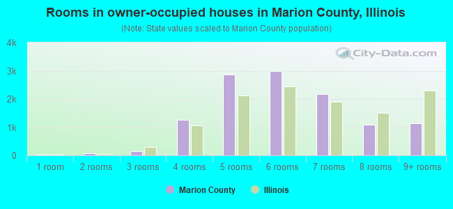 Rooms in owner-occupied houses in Marion County, Illinois