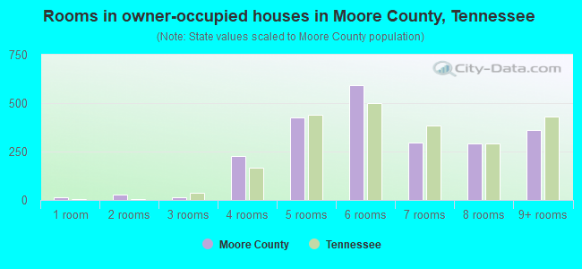 Rooms in owner-occupied houses in Moore County, Tennessee