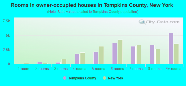 Rooms in owner-occupied houses in Tompkins County, New York