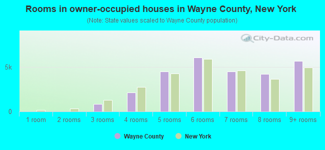 Rooms in owner-occupied houses in Wayne County, New York