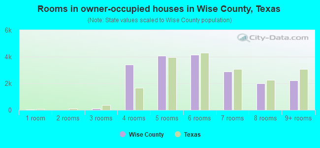Rooms in owner-occupied houses in Wise County, Texas