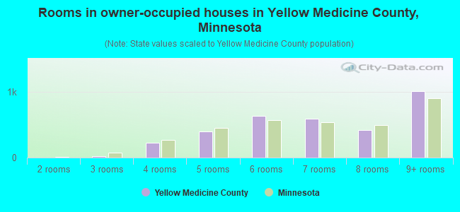 Rooms in owner-occupied houses in Yellow Medicine County, Minnesota
