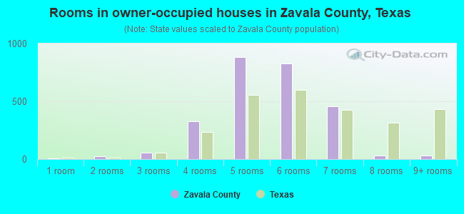 Rooms in owner-occupied houses in Zavala County, Texas