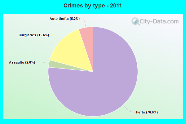 Crimes by type - 2011