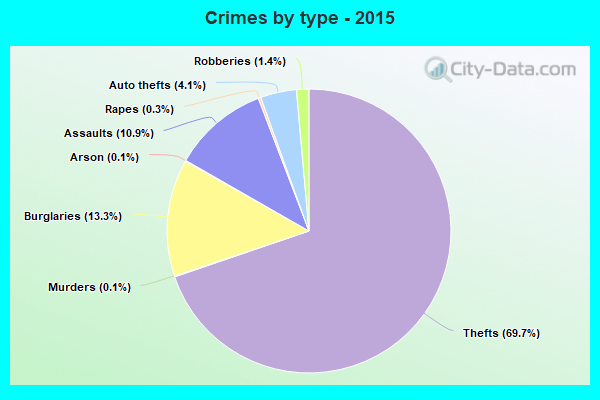 Crimes by type - 2015