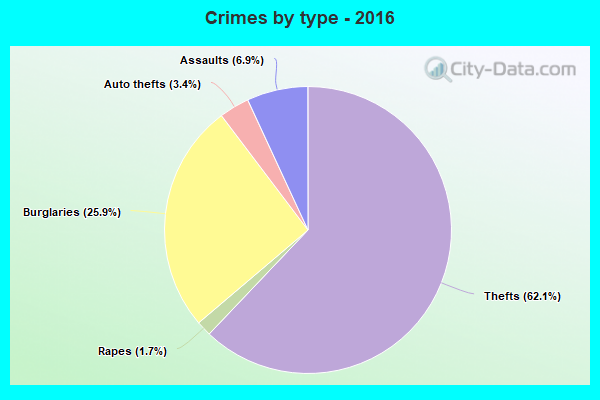 Crimes by type - 2016