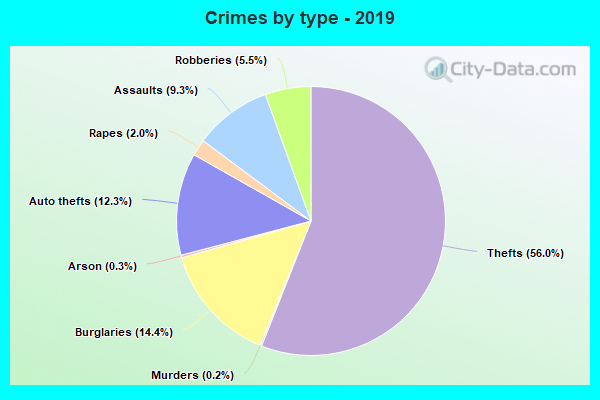 Crimes by type - 2019