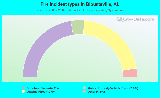Fire incident types in Blountsville, AL