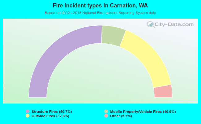 Fire incident types in Carnation, WA