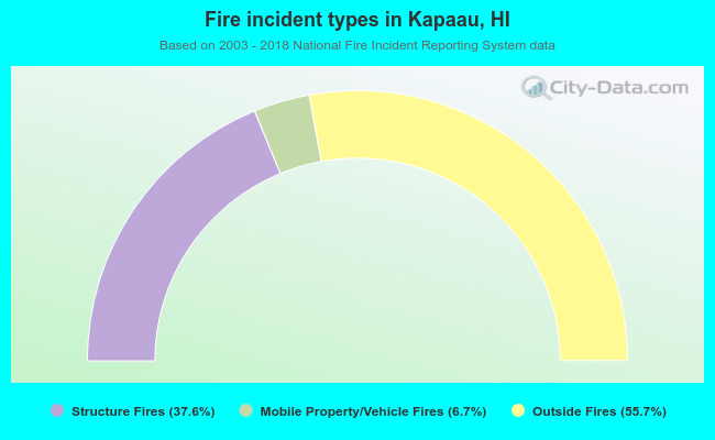Fire incident types in Kapaau, HI