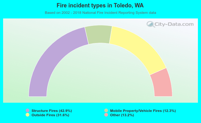 Fire incident types in Toledo, WA