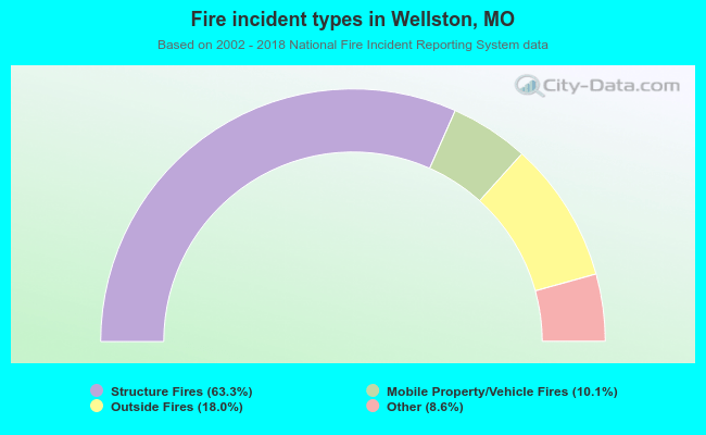 Fire incident types in Wellston, MO