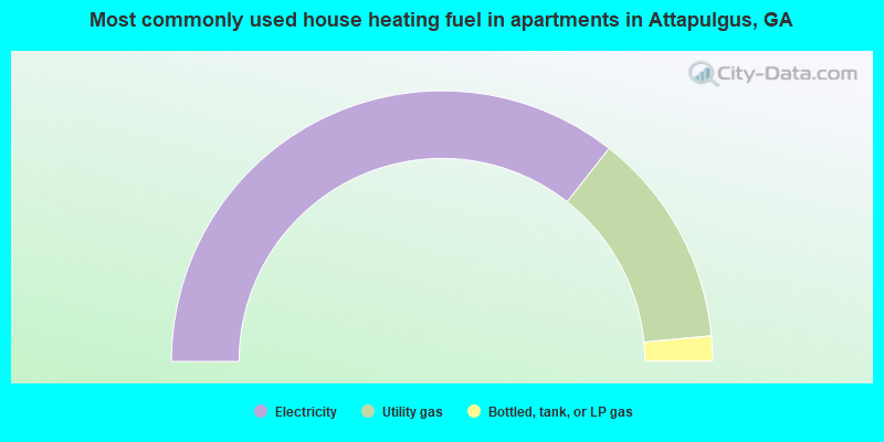 Most commonly used house heating fuel in apartments in Attapulgus, GA