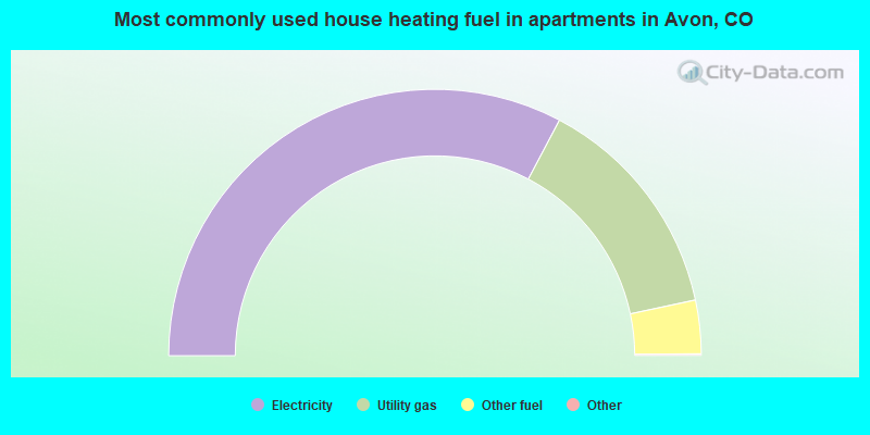 Most commonly used house heating fuel in apartments in Avon, CO