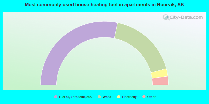 Most commonly used house heating fuel in apartments in Noorvik, AK