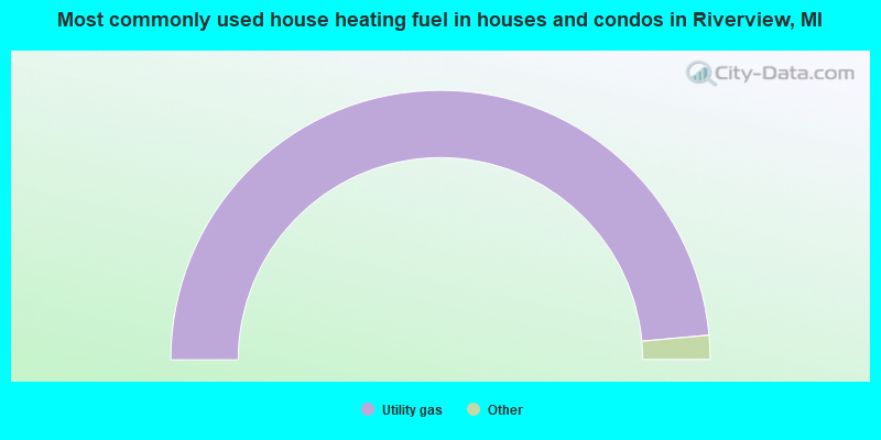 Most commonly used house heating fuel in houses and condos in Riverview, MI