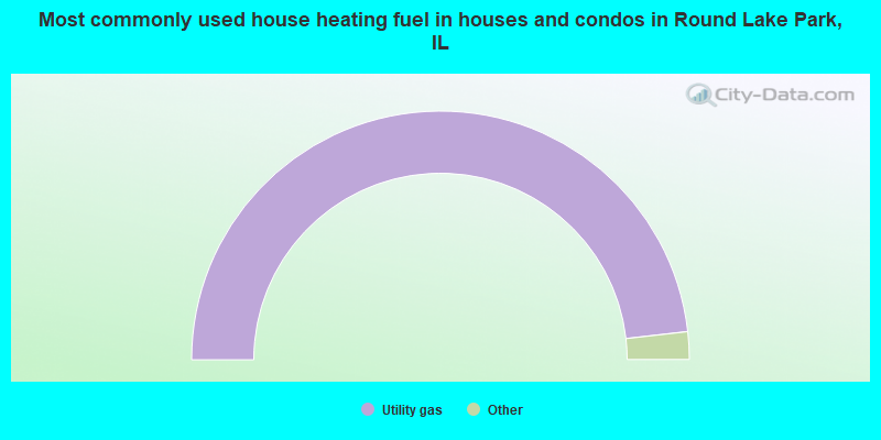 Most commonly used house heating fuel in houses and condos in Round Lake Park, IL