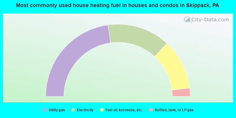 Most commonly used house heating fuel in houses and condos in Skippack, PA