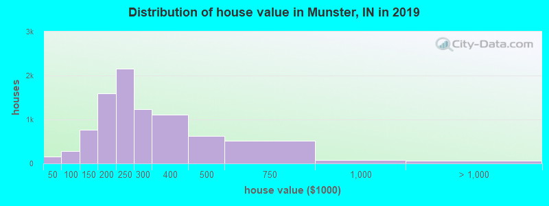 Munster, Indiana (IN 46321) profile: population, maps, real